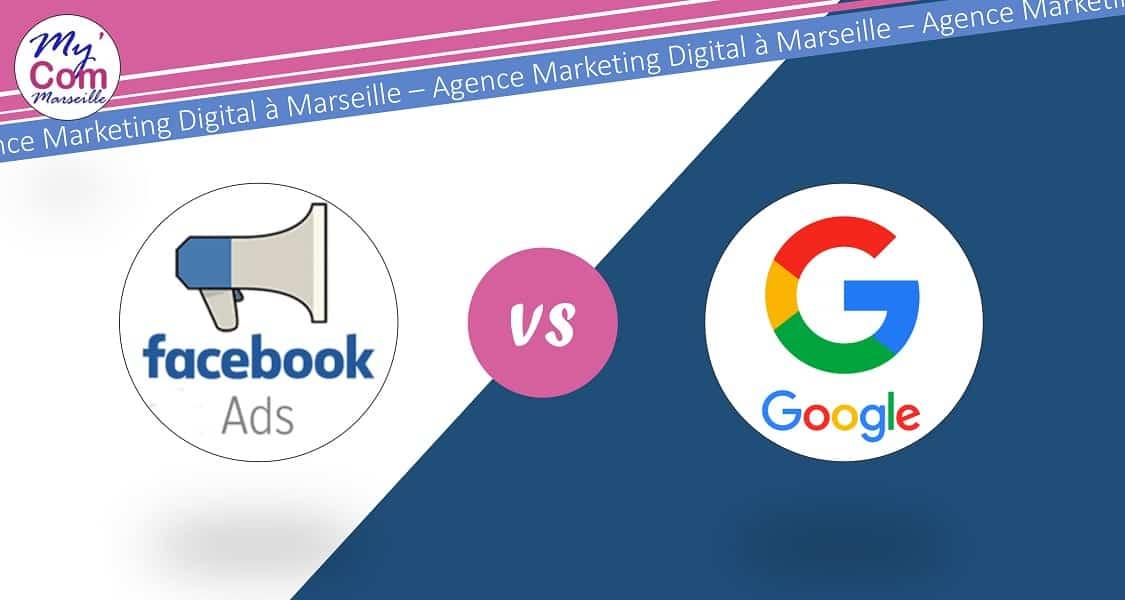 FACEBOOK Ads vs GOOGLE Ads QUEL EST LE PLUS RENTABLE ?